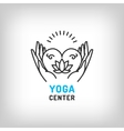 yoga logo meditation icon lotus flower vector image
