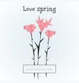geometric polygonal spring flowers template vector image