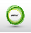 abstract green circles vector image