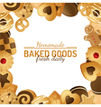 cookie background vector image vector image