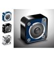 button icons 3D voice sound vector image