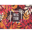 abstract background with leaves vector image vector image