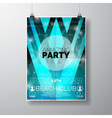 Party Flyer poster template on Summer Beach theme vector image vector image