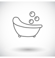 Bath icon vector image