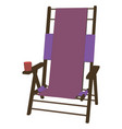 chair recliner icon beach summer lounge design vector image