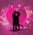 Couple on a heart background vector image