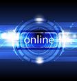 Digital online concept background vector image