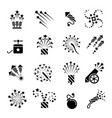 pyrotechnic black icons vector image