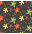 Seamless pattern of hand drawn summer flowers on a vector image