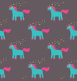 seamless pattern with a cute unicorn vector image