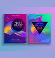 template for music concept flyer design vector image