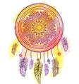 American Indian talisman dreamcatcher vector image