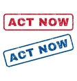 Act Now Rubber Stamps vector image