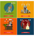 set of cinema art concept posters in flat vector image vector image