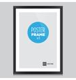 Poster frame black vector image