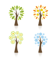 Four season trees vector