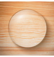 water drop on wooden background vector image