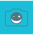 Camera smile vector image vector image