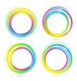 Rainbow abstract circle frames set vector image