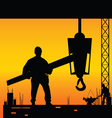 worker on the work place vector image