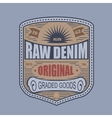 Vintage denim typography t-shirt graphics vector image