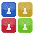 set of four square icons with transmitter vector image