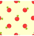 background of red ripe apples vector image