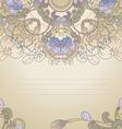 floral postcard pastel vector image vector image