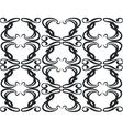Ornament in black 11 vector image vector image