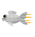 Fantastic metal fish vector image