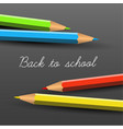 back to school poster with crayons vector image