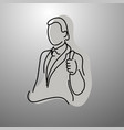 businessman showing thumb up vector image