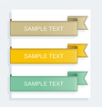 collection ribbons vector image