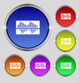 Equalizer icon sign Round symbol on bright vector image