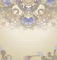floral postcard pastel vector image