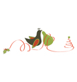 Partridge and pear christmas vector image