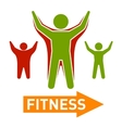 Slim and Fat Peple Figires Fitness Progress Body vector image
