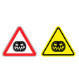 Warning sign attention Halloween Hazard yellow vector image