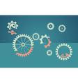 teamwork concept - lazy worker vector image