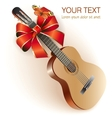 Classical Spanish guitar vector image vector image