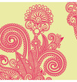 hand draw ornate flower design element vector image vector image