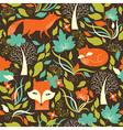 seamless pattern with a foxes vector image vector image