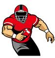 american football player run vector image vector image