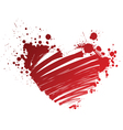 red heart grungy vector image