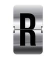 Alphabet silver flipboard letters r vector image vector image