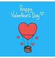 Valentines Day featuring flying balloon vector image