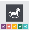 Horse toy flat icon vector image