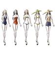 bikini catwalk vector image