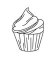 delicious cupcake sweet icon vector image
