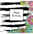 floral birthday card vector image